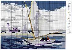 schemi+punto+croce+regata+in+barca+a+vela.jpg (1600×1109)