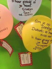 Zoek je een uitnodiging kinderfeestje? Deze grappige ballon uitnodiging is net even anders dan alle anderen en je hebt hem zo gemaakt!