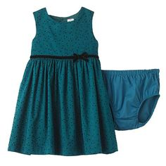 Carter's Flocked Polka Dot Dress - Baby