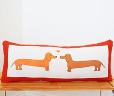 {dachshund love pillow} by Kate Durkin