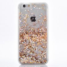 Pretty Gold Cascading Cascading Flakes Case for your iPhone. - High Quality - Protective Hard Case - Easy Access to Ports Available for iPhone 7, 7 Plus