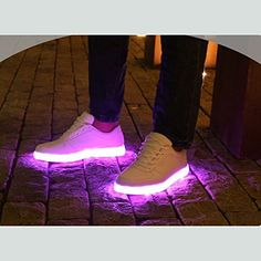 ACEVER USB Charging LED Lighted Luminous Couple Casual Shoes - Current price: USD $108.0 (46% OFF). Follow this on Notivo to get notified when there is an update