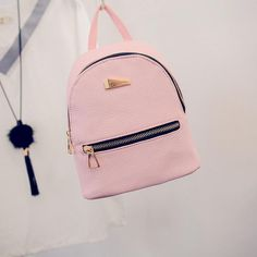 2016 New Women's Backpacks Brand Design Fashion Black High Quality Leather Backpack Travel For School Bags Teenage Girl Rucksack -- View the item in details by clicking the VISIT button