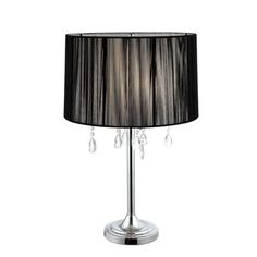Table Lamps At Home Depot Classy Hampton Bay  Glass Font Accent Lamp  15021  Home Depot Canada Design Decoration