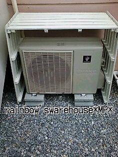 MPの warehouse rainbow's♪:☆DIY☆〜外機を隠せ!〜すのこ