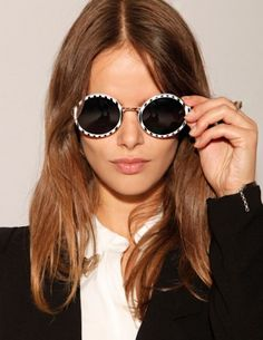NUEVA TEMPORADA! Stripe round sunglasses