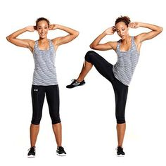 Love this standing ab move...you'll really feel it in your obliques! Standing side crunch | health.com