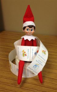 #HealthyElf is stuck on good nutrition. Making small changes over time helps create lasting healthy habits. Catch your Elf on the Shelf being healthy and tag with #HealthyElf.