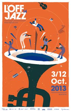 OFF JAZZ 2013 at Behance - Design - You are in the right place about Music Festival hacks Here we offer you the most beautiful pictures about the Music Festival vsco you ar Event Poster Design, Poster Design Inspiration, Event Posters, Graphic Design Posters, Festival Posters, Concert Posters, Jazz Festival, Musikfestival Poster, Party Poster