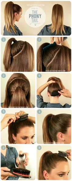 The Beauty Department - The 'Phony' Tail, great technique to give your ponytail a boost
