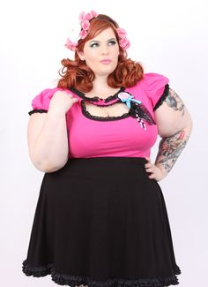 ae5101f3229 Jessica Louise cupcake keyhole top Plus Size Shopping
