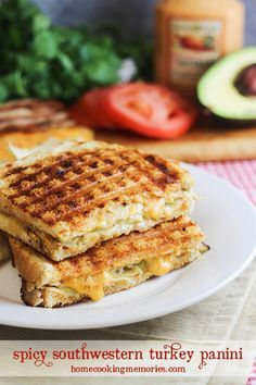 Spicy Southwestern Turkey Panini -- if you like bold & spicy flavors, with plenty of cheesy goodness, this is for you!