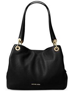 754e5ecc057ad6 Michael Kors Raven Pebble Leather Tote & Reviews - Handbags & Accessories -  Macy's