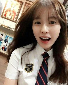 School Uniform! 교복샷? 고등학생 시절 연주~ 校服照片? 高中时期的妍珠~ - Source : @韩孝周HYOJOO (Weibo)…
