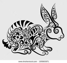 Collection Of Flower Silhouettes Identificación de foto en stock: 69514105 : Shutterstock
