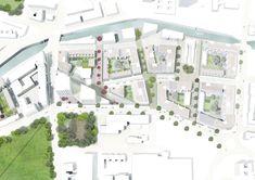 49 Ideas house plans architecture social for 2019 Social Housing Architecture, Masterplan Architecture, Plans Architecture, Landscape Architecture Design, Landscape Plans, Urban Landscape, Facade House, Urban Planning, Architect Design