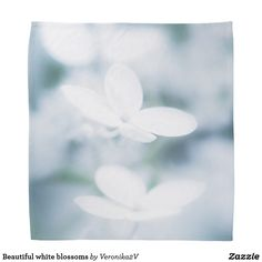 Beautiful white blossoms bandana, photo, photography, artwork, buy,  zazzle, shop, hydrangea, blossom, blossoms, bloom, blooming,  flower, flowers, tender, love, summer, garden, white, light, spring, floral, macro, close-up,  blue, green, cyan, gift, sale, buy, fashion, girl,  beautiful, pretty, woman, sport, rest, vacation, walking