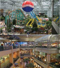Mall of America, Minneapolis, MN (Over 500 stores, amusement park, aquarium, mini golf course...definitely worth another trip!)