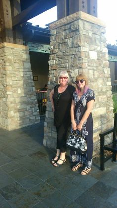 Mum and I at LongHorn Steakhouse
