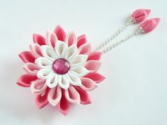 Handmade+Kanzashi+ladies+women+large+hair+por+MARIASFLOWERPOWER