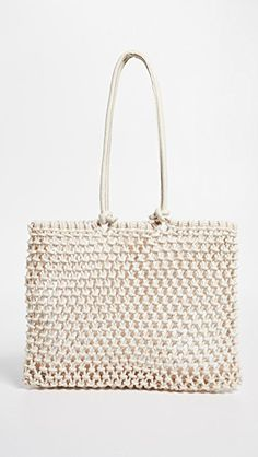 The Shopbop Sale + Must-Have Sale Picks for Spring India Fashion, Fashion Bags, Straw Tote, Summer Bags, Womens Purses, Leather Handle, Designing Women, Purses And Bags, Tote Bag