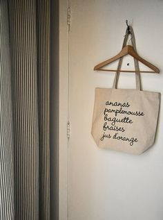 shopping bag with shoppinglist