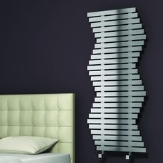 Reina Wave Radiator in Brushed Stainless Steel - wayfair - £545 -