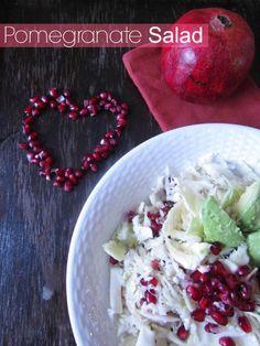 Valentine's Day Recipes: GRANADA ROJA, AGUACATE & REPOLLO RAYADO.!