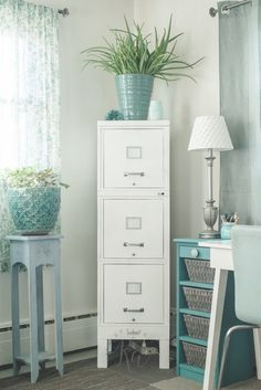 My 100 Year Old File Cabinet Makeover | Painted filing cabinets ...