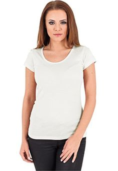 Urban Classics Damen T-Shirt Basic Viscon Tee X-Small Offwhite