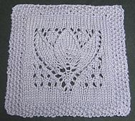 "Ravelry: Margaret Tulip 9"" Dishcloth Afghan Block Square pattern by Margaret MacInnis"