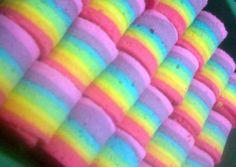 Rainbow rollcake (mini) foto resep utama