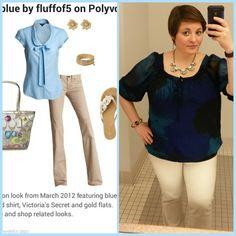 #ChubbyChique 5-19-2015 #ootd #MayPinnedItSpinnedIt Khaki pants and blue inspiration