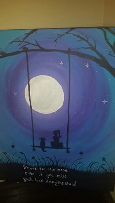 Swinging in the moonlight