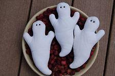 Primitive Halloween, Fall Quilt GhostOrnies, Bowl Fillers, Set of 3