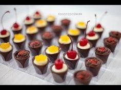 Docinhos para festa Fall Nails fall nails on brown skin Wedding Desserts, Mini Desserts, Just Desserts, Dessert Recipes, Chocolate Shop, Chocolate Desserts, Food Stations, Chocolate Decorations, Food Decoration