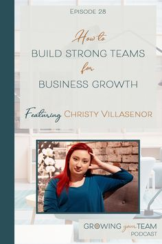 Do you want to build a team that will help you build a better and stronger small business than you can do on your own? In this episode of the Growing Your Team podcast, Christy Villasenor shares how.  Christy Villasenor, Growing You Team Podcast, Jamie Van Cuyk, Small Business  #hiring #smallbusiness #smallbusinesstips #podcast Working Mom Schedule, Working Mom Tips, Pumping At Work, Like A Mom, Hiring Process, Fit Team, Strong Relationship, Work From Home Moms