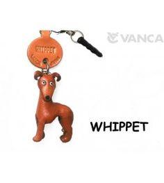 Whippet Leather Dog Earphone Jack Accessory