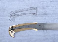 Эксплуатация казачьих шашек Forging Knives, Blacksmithing Knives, Cool Knives, Knives And Swords, Knife Handle Making, Knife Drawing, Knife Template, Hand Forged Knife, Diy Knife