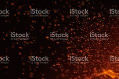 Fire Sparks Isolated on Black Background royalty-free stock photo