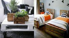 22 façons d'utiliser la palette en déco :http://jefouinetufouines.fr/2014/07/01/recyclage-decoration-meubles-en-palettes-de-bois/