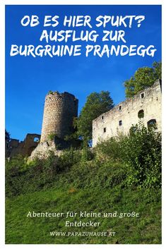 Bist du schon mal einem Schlossgespenst begegnet? Ich schon! Auf der Burgruine Prandegg gibt es viel zu entdecken. Ein echt geniales Ausflugsziel für Familien in Oberösterreich.   #ausflug #ausflugsziel #oberösterreich #linz #mühlviertel #familienausflug #ausflungstipp #ausflugsidee #burgruineprandegg #burg #ritterburg #burgruine #prandegg #schlossgespenst Outdoor Activities, Places, Nature, Inspiration, Europe, Hotels For Kids, Father And Son, Abandoned Places, Family Vacations