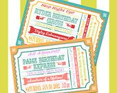 Train or Circus Ticket Invitation for Boy or Girl Birthday, Printable, Thank you card, Baby Shower Invite