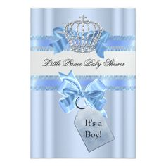 Child Bathe Boy Blue Little Prince Crown SML Card. ** Take a look at even more by checking out the image link