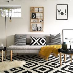 A couple of weeks back some of you may remember that I had a delivery driver who did not see the funny side of my 'now I can see why you checked I was in before you lugged that to my door' comment?!  Well, 'that' was this absolute beaut of a sofa bed from the new IKEA x HAY YPPERLIG collab ! When @ikeauk asked me to collab, I felt like all my interiors dreams came true- I mean look at the shelf and the tables too . What do you think of my attempt at Scandi-cool? Keep your eyes peeled fo...