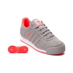 Shop for Womens adidas Samoa Athletic Shoe, Gray Coral Granite, at Journeys Shoes. Kick back with the Samoa Athletic Shoe from adidas! This 80s throwback Samoa Sneaker rocks a soccer inspired design with breathable textile uppers, nubuck overlays, and an extra set of laces to customize your look. Available for shipment in June; Available only at Journeys and SHI by Journeys!