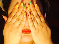 #Black light #summer #nail design #easy