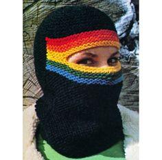 Vintage Knitting Pattern Ski Mask Thigh High Leg by 2ndlookvintage, $3.00