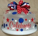 1 - Patriotic Cake Carrier - You could make a cake and decorate this for a fun Christmas gift!!