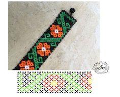 Beading Patterns Free, Bead Loom Patterns, Beading Tutorials, Diy Necklace Patterns, Beaded Bracelet Patterns, Bead Loom Bracelets, Bracelet Crafts, Crochet Bedspread Pattern, Seed Bead Jewelry